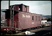 3/4 view of caboose #0585<br /> D&amp;RGW