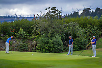 From left, Kahu Tataurangi, Malcolm Wells and Will O'Connor. Day two of the Jennian Homes Charles Tour / Brian Green Property Group New Zealand Super 6s at Manawatu Golf Club in Palmerston North, New Zealand on Friday, 6 March 2020. Photo: Dave Lintott / lintottphoto.co.nz