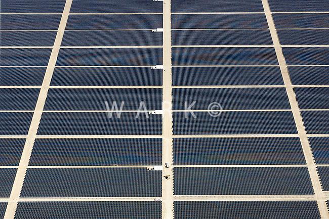 Photovoltaic solar energy power plant near Cimarron, NM