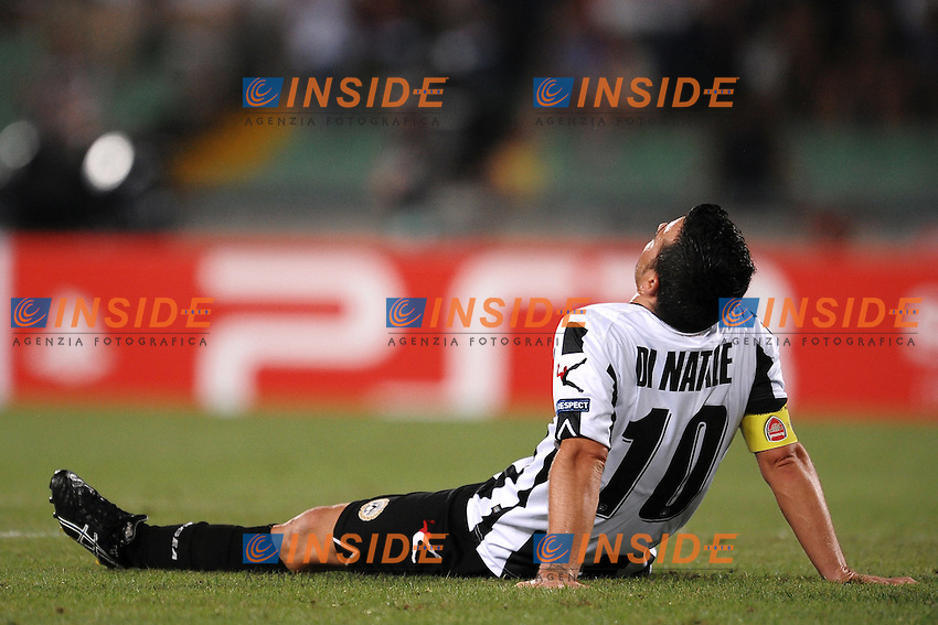 "Delusione Antonio Di Natale Udinese.Dejection.Udine 24/8/2011 Stadio ""Friuli"".Football Calcio Champions League.Udinese Vs Arsenal.Foto Insidefoto Andrea Staccioli"