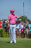 Matt Jones (AUS) reacts after his tee shot on 8 during round 4 of the AT&T Byron Nelson, Trinity Forest Golf Club, Dallas, Texas, USA. 5/12/2019.<br /> Picture: Golffile   Ken Murray<br /> <br /> <br /> All photo usage must carry mandatory copyright credit (© Golffile   Ken Murray)