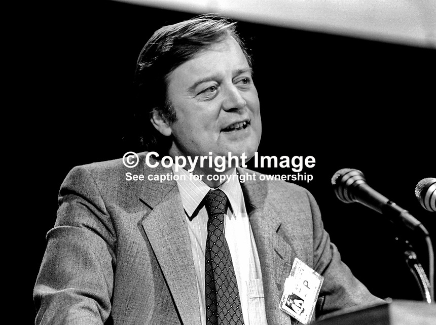 Kenneth Clarke, MP, UK, Conservative Party, Paymaster General, 1986, 19860202KC2<br /> <br /> Copyright Image from Victor Patterson,<br /> 54 Dorchester Park, <br /> Belfast, UK, BT9 <br /> <br /> t1: +44 28 9066 1296 (from Rep of Ireland 048 90661296)<br /> t2: +44 28 9002 2446 (from Rep of Ireland 048 9002 2446)<br /> <br /> m: +44 7802 353836<br /> <br /> e: victorpatterson@me.com<br /> www.victorpatterson.com<br /> <br /> Please see my Terms and Conditions of Use at www.victorpatterson.com. It is IMPORTANT that you familiarise yourself with them.<br /> <br /> Images used on the Internet must be visibly watermarked i.e. &copy; Victor Patterson<br /> within the body of the image and copyright metadata must not be deleted. Images <br /> used on the Internet have a size restriction of 4kbs and will be chargeable at current<br />  NUJ rates unless agreed otherwise.<br /> <br /> This image is only available for the use of the download recipient i.e. television station, newspaper, magazine, book publisher, etc, and must not be passed on to any third <br /> party. It is also downloaded on condition that each and every usage is notified within 7 days to victorpatterson@me.com<br /> <br /> The right of Victor Patterson to be identified as the author is asserted in accordance with The Copyright Designs And Patents Act (1988). All moral rights are asserted.