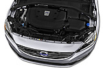 Car Stock 2017 Volvo S60 T5 4 Door Sedan Engine  high angle detail view