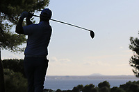 Ross McGowan (ENG) on the 16th tee during Round 3 of the Challenge Tour Grand Final 2019 at Club de Golf Alcanada, Port d'Alcúdia, Mallorca, Spain on Saturday 9th November 2019.<br /> Picture:  Thos Caffrey / Golffile<br /> <br /> All photo usage must carry mandatory copyright credit (© Golffile | Thos Caffrey)