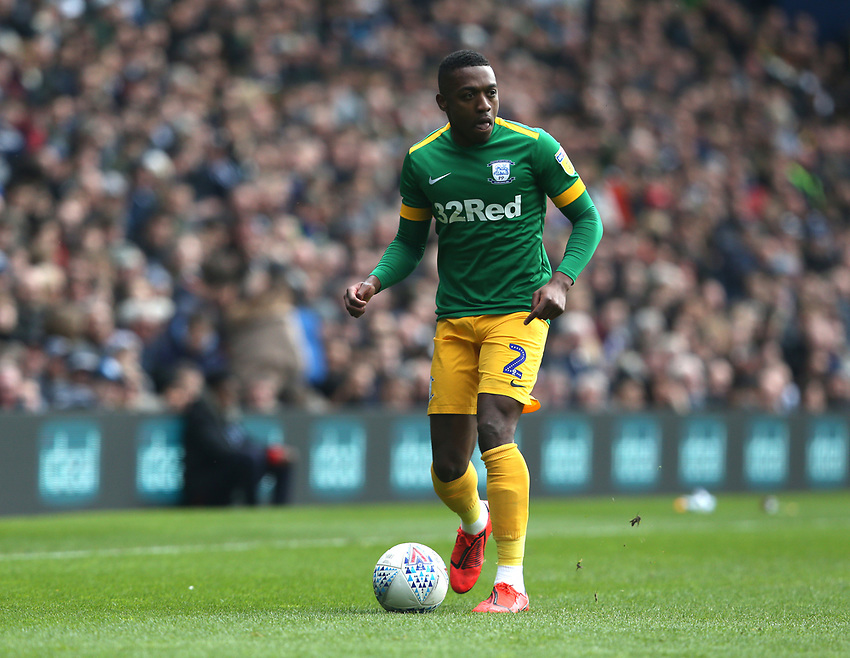 Preston North End's Darnell Fisher<br /> <br /> Photographer Stephen White/CameraSport<br /> <br /> The EFL Sky Bet Championship - West Bromwich Albion v Preston North End - Saturday 13th April 2019 - The Hawthorns - West Bromwich<br /> <br /> World Copyright © 2019 CameraSport. All rights reserved. 43 Linden Ave. Countesthorpe. Leicester. England. LE8 5PG - Tel: +44 (0) 116 277 4147 - admin@camerasport.com - www.camerasport.com