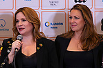 Singers Lucia Galan (L) and Nina Pastori during the press conference and rehearsal of Festival Unicos. September 22, 2019. (ALTERPHOTOS/Johana Hernandez)