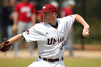 UMass Aaron Plunkett #24 during a game vs Indiana Hoosiers at Lake Myrtle Main Field in Auburndale, Florida;  March 16, 2011.  Indiana defeated UMass 11-10.  Photo By Mike Janes/Four Seam Images