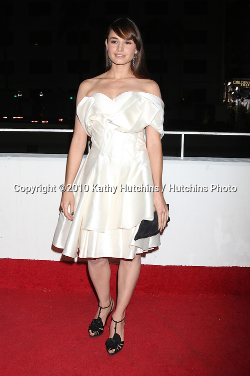 Mía Maestro.arriving at the 3rd Annual Art of Elysium Gala.Rooftop of Parking Garage across from Beverly Hilton Hotel.Beverly Hills, CA.January 16, 2010.©2010 Kathy Hutchins / Hutchins Photo....