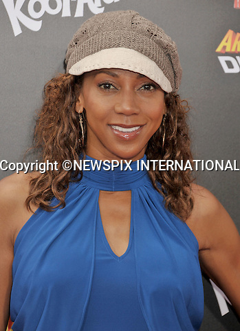 "HOLLY ROBINSON PEETE.attends the World Premiere of ""Spy Kids: All The Time In The World"" at the Regal Cinemas, L.A. Live, Los Angeles, California_31/07/2011.Mandatory Photo Credit: ©Crosby/Newspix International. .**ALL FEES PAYABLE TO: ""NEWSPIX INTERNATIONAL""**..PHOTO CREDIT MANDATORY!!: NEWSPIX INTERNATIONAL(Failure to credit will incur a surcharge of 100% of reproduction fees).IMMEDIATE CONFIRMATION OF USAGE REQUIRED:.Newspix International, 31 Chinnery Hill, Bishop's Stortford, ENGLAND CM23 3PS.Tel:+441279 324672  ; Fax: +441279656877.Mobile:  0777568 1153.e-mail: info@newspixinternational.co.uk"