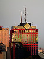 aerial photograph of modern architecture, tower on the Paseo de la Reforma, Mexico City, Mexico