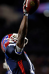18 November 2007: Buffalo Bills wide receiver Roscoe Parrish (11) celebrates his 47-yard touchdown reception during the first quarter against the New England Patriots at Ralph Wilson Stadium in Orchard Park, NY. The Patriots defeated the Bills 56-10 in their second meeting of the season...Mandatory Photo Credit: Ed Wolfstein Photo