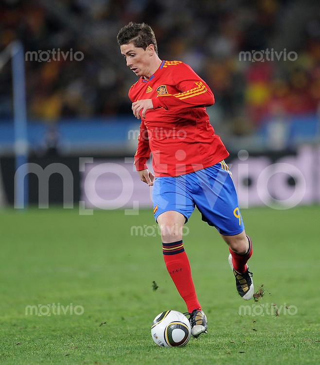 FUSSBALL WM 2010    HALBFINALE   07.07.2010 Deutschland - Spanien Fernando TORRES (Spanien)