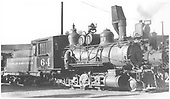 3/4 engineer's-side view of C&amp;S #64 in a yard.<br /> C&amp;S    Taken by Perry, Otto C.