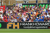 Fans celebrate a six during Essex Eagles vs Glamorgan, NatWest T20 Blast Cricket at The Cloudfm County Ground on 16th July 2017
