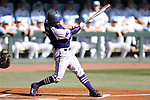 CHAPEL HILL, NC - FEBRUARY 27: High Point's Austen Zente. The University of North Carolina Tar heels hosted the High Point University Panthers on February 27, 2018, at Boshamer Stadium in Chapel Hill, NC in a Division I College Baseball game. UNC won the game 10-0.