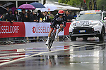 Louis Meintjes (RSA) UAE Team Emirates in action during Stage 1, a 14km individual time trial around Dusseldorf, of the 104th edition of the Tour de France 2017, Dusseldorf, Germany. 1st July 2017.<br /> Picture: Eoin Clarke | Cyclefile<br /> <br /> <br /> All photos usage must carry mandatory copyright credit (&copy; Cyclefile | Eoin Clarke)
