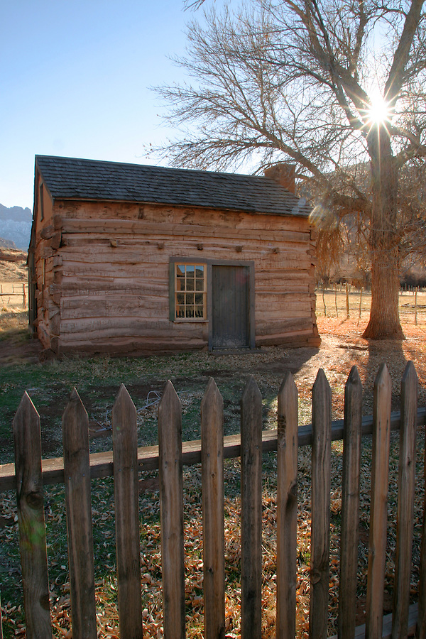 Abandoned school house (circ 1886), Grafton (ghost town), Rockville, Washington County, UT