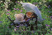 Carl, CUTE ANIMALS, teddies, photos, 2 teddies, pram, meadow(SWLA3002,#AC#)