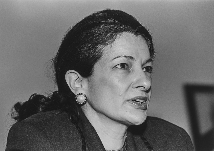 Close-up of Rep. Olympia Snowe, R-Maine, in March 1994. (Photo by Maureen Keating/CQ Roll Call via Getty Images)