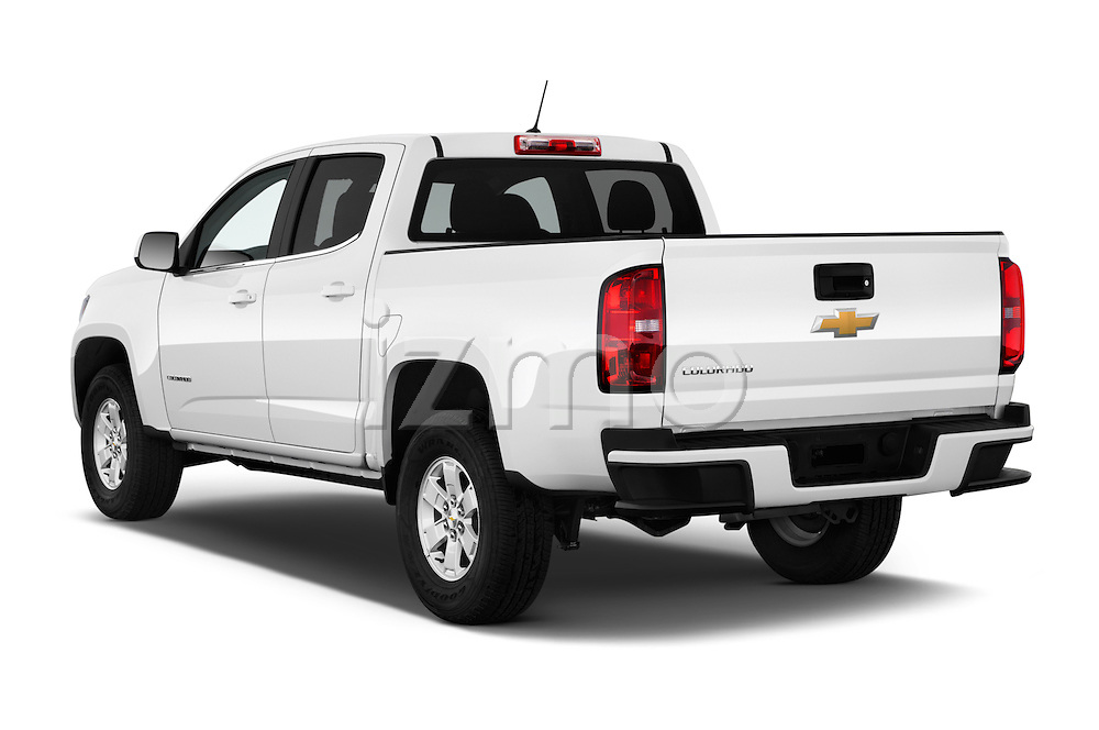 Car pictures of rear three quarter view of 2016 Chevrolet Colorado Work-Truck-Crew 4 Door Pick-up Angular Rear