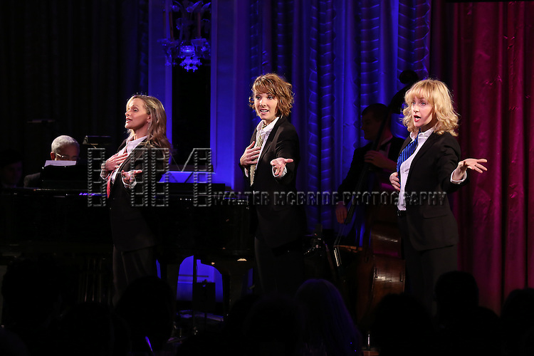 Paige Price, Chryssie Whitehead,  and Erin Davie perform during the Drama League's 30th Annual 'Musical Celebration of Broadway' honoring Neil Patrick Harris at the Pierre Hotel on February 3, 2014 in New York City.