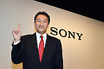 April 12, 2012, Tokyo Japan - .Sony Corp's new president and CEO Kazuo Hirai poses for photographers during media conference in Tokyo on Thursday, April 12, 2012. Hirai delivered strategic and financial targets for the coming three years. Sony planed to cut 10,000 jobs worldwide over the next year its global workforce, and try to turn around its money-losing TV business. (Photo by Koichi Mitsui/AFLO) -tm-