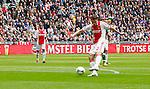 Nederland, Amsterdam, 15 april 2012.Eredivisie .Seizoen 2011-2012.Ajax-De Graafschap.Derk Boerrigter van Ajax scoort de 1-0