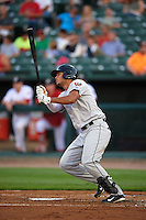 Wisconsin Timber Rattlers outfielder Elvis Rubio (17) at bat during a game against the Peoria Chiefs on August 21, 2015 at Dozer Park in Peoria, Illinois.  Wisconsin defeated Peoria 2-1.  (Mike Janes/Four Seam Images)