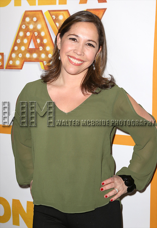 Andrea Burns attends the Re-Opening Night of 'It's Only A Play'  at the Bernard B. Jacobs Theatre on January 23, 2014 in New York City.