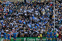 12th January 2020; RDS Arena, Dublin, Leinster, Ireland; Heineken Champions Cup Rugby, Leinster versus Lyon Olympique Universitaire; Leinster fans hold up their try signs to celebrates a try - Editorial Use