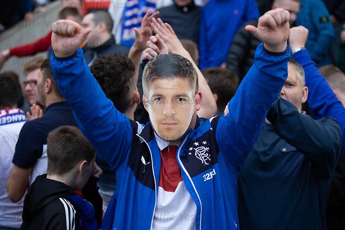 """13.05.2018 Hibs v Rangers: """"Steven Gerrard"""" in the Rangers end"""