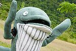 Bryde's Whale mascot portrait, lobo Village, Papua.