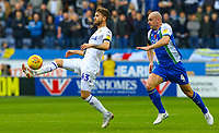 Leeds United's Mateusz Klich shields the ball from Wigan Athletic's Darron Gibson<br /> <br /> Photographer Alex Dodd/CameraSport<br /> <br /> The EFL Sky Bet Championship - Wigan Athletic v Leeds United - Sunday 4th November 2018 - DW Stadium - Wigan<br /> <br /> World Copyright &copy; 2018 CameraSport. All rights reserved. 43 Linden Ave. Countesthorpe. Leicester. England. LE8 5PG - Tel: +44 (0) 116 277 4147 - admin@camerasport.com - www.camerasport.com