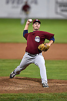 Mahoning Valley Scrappers pitcher J.P. Feyereisen (28) delivers a pitch during a game against the Batavia Muckdogs on August 23, 2014 at Dwyer Stadium in Batavia, New York.  Mahoning Valley defeated Batavia 5-1.  (Mike Janes/Four Seam Images)