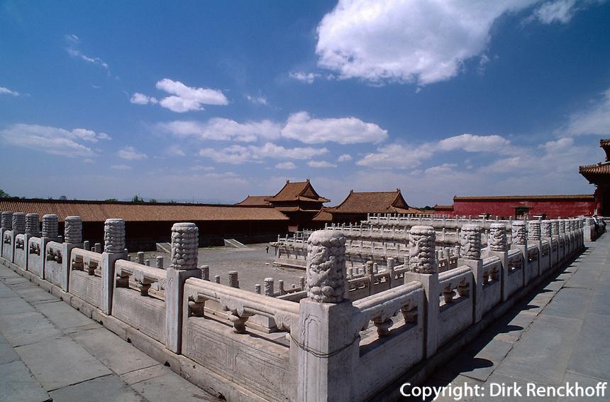 Nordwestlich der Halle der höchsten Harmonie, Kaiserpalast (Gugong, Verbotene Stadt), Peking,  China, Unesco-Weltkulturerbe