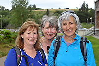 7-7-2017; Mary Madden, Joan Nagle and Joanna Harrington from Cork  pictured in the village of Sneem in County Kerry on day 1 of the Kerry Way Walk in aid of Breakthrough Cancer Research on Friday evening. The three dayt charity walk continues in Derrynane on Saturday and South Kerry on Sunday.<br /> Photo Don MacMonagle<br /> <br /> Repro free photo breakthrough cancer research <br /> <br /> <br /> <br /> pictured in the village of Sneem in County Kerry on day 1 of the Kerry Way Walk in aid of Breakthrough Cancer Research on Friday evening. The three dayt charity walk continues in Derrynane on Saturday and South Kerry on Sunday.<br /> Photo Don MacMonagle<br /> <br /> Repro free photo breakthrough cancer research