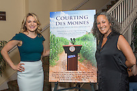"""Catherine Urbanek and Gina Belafonte attend the Screening and Reception for Feature Film """"Courting Des Moines"""" at the Charlie Chaplin Theater, Raleigh Studios in Los Angeles on Thursday, June 30, 2016 (Photo by Inae Bloom/Guest of a Guest)"""