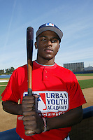 February 10 2008: Adrian Williams participates in a MLB pre draft workout for high school players at the Urban Youth Academy in Compton,CA.  Photo by Larry Goren/Four Seam Images