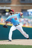 Columbus Clippers starting pitcher Matt Whitehouse (28) in action against the Indianapolis Indians at Huntington Park on June 17, 2018 in Columbus, Ohio. The Indians defeated the Clippers 6-3.  (Brian Westerholt/Four Seam Images)