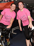 Instructors Shauna Burke and laura matthews who took part in The Pink Pedal Challenge in the Boyne Valley Country Club. Photo:Colin Bell/pressphotos.ie