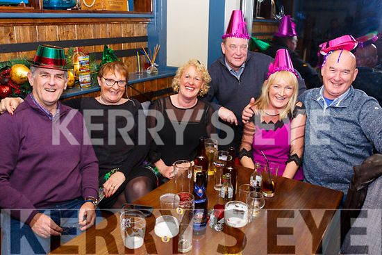 Ringing in the New Year in Dooley's Bar, Waterville were l-r Conor Maher, Mary Fleming, Ester McAuliffe, John Fleming, Aileen Maher & Aidan McAuliffe.