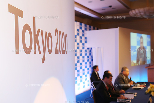 JANUARY 26, 2015 : NTT corporation has Press conference at Hotel Okura Tokyo. NTT corporation today announced that it has entered into a partnership agreement with the Tokyo Organising Committee of the Olympic and Paralympic Games. (Photo by Shingo Ito/AFLO SPORT) [1195]