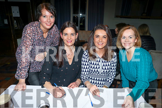 Donna Horan, Madeleine McCarthy, Monica Wojtalik and Edel Hobbert pictured at the St Brendan's Park FC Quiz at the Meadowlands, Tralee on Friday night last.