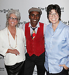 Paula Dean & Marcus Samuelsson with Kim Severson backstage at the TimesTalks with Paula Dean and Marcus Samuelsson at the Times Center on October 13, 2012 in New York City.