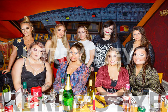 Daria Gebka from Tralee celebrating her birthday in Ristorante Uno on Saturday night.<br /> Seated l to r: Amanda Goldberga, Daria Gebka, Megan Hickey and Chloe Smith.<br /> Back l to r: Saoirse Coffey, Allannah O'Sullivan, Monica King, Christina Tomyuk and Clodagh Broderick.