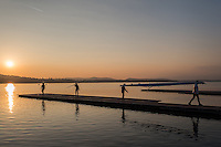 Varese. Lombardia. ITALY. General View.  Sun Set, Crewsreturning from afternoon Training on Lake/Lago Varese. [Varese Rowing Club]. [Canottieri Varese]<br /> <br /> Tuesday  03/01/2017<br /> <br /> [Mandatory Credit; Peter Spurrier/Intersport-images]<br /> <br /> <br /> LEICA CAMERA AG - LEICA Q (Typ 116) - 1/2000 - f4