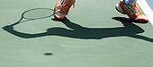 Juan Sebastian Gomez de Bogota,  medallista de los Juegos Olimpicos de la Juventud de Singapur, se prepara a sacar durante un juego clasificatorio de tenis hombres en los Juegos Deportivos Nacionales en el Complejo Eustorgio Colmenares en Cucuta, Norte de Santander, Colombia, mates 6 de noviembre 6, 2012..Foto: Coldeportes/Archivolatino...COPYRIGHT: Coldeportes. Imagen distribuida por el servicio gratuito de difusion de los Juegos Deportivos Nacionales 2012. Prohibida su venta y su uso comercial.