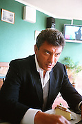 Boris Nemtsov during the Sochi's mayor election campaign. Sochi, March 2012