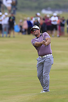 Ryan Fox (NZL) plays his 2nd shot on the playoff hole 18 during Sunday's Final Round of the 2018 Dubai Duty Free Irish Open, held at Ballyliffin Golf Club, Ireland. 8th July 2018.<br /> Picture: Eoin Clarke | Golffile<br /> <br /> <br /> All photos usage must carry mandatory copyright credit (&copy; Golffile | Eoin Clarke)