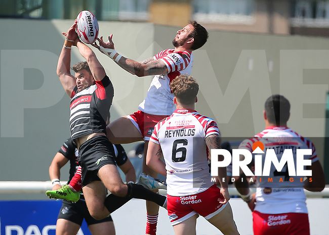Match action during the Betfred Championship match between London Broncos and Leigh Centurions at Castle Bar , West Ealing , England  on 6 May 2018. Photo by Mark Kerton / PRiME Media Images.
